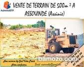 vente de terrain viabilisée à assouindé s/p d'Assinie