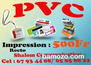 impression carte PVC